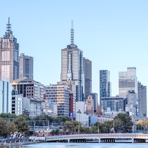 A photo of Melbourne city